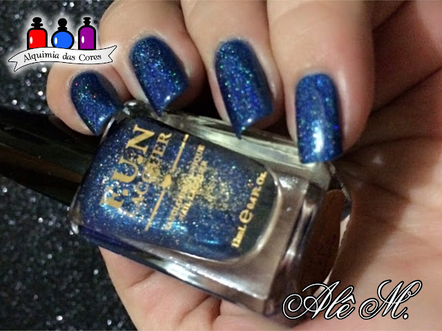 F.U.N. Lacquer, Blue Tears, 2015 Summer Collection, Azul Cobalto, Holográfico, Alê M.