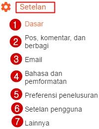 Cara Setting Blog Baru di Dasbor Blogger-Blogspot