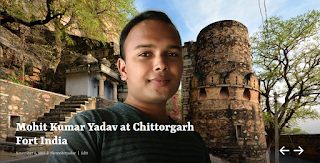 Mohit Kumar Yadav at Chittorgarh Fort India