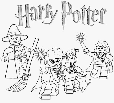 Clipart Legoland coloring pages wizard Lego Harry Potter Minifigure characters from castle Hogwarts