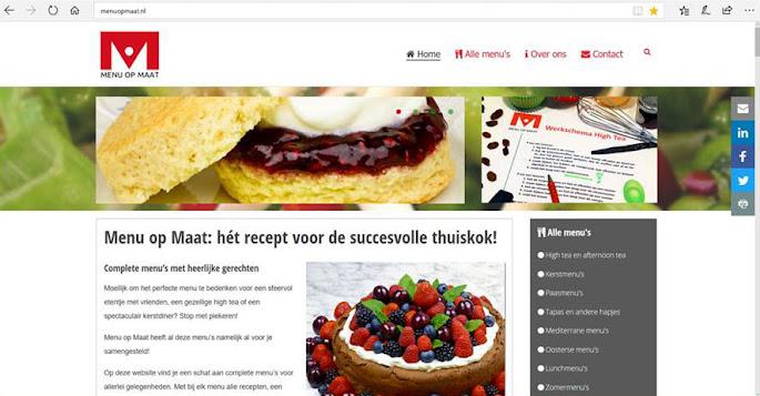 Zo zag menuopmaat.nl er uit