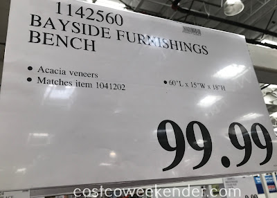 Deal for the Bayside Furnishings Bench at Costco