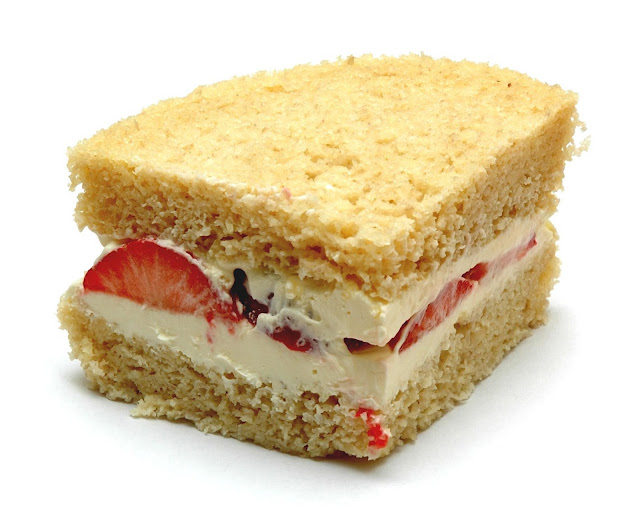 The Low Carb Diabetic Recipe Blog: Strawberry Sponge Cake