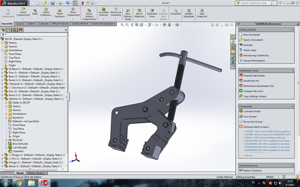 285 Manual Clamp Mechanism Free Download 3d Models