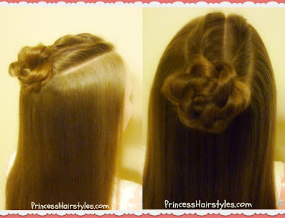 Double cornrow twists with rope braid bun hairstyle.