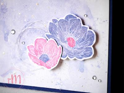 Stampin' Up! rosa Mädchen Kulmbach: Glückwunschkarten mit Florale Freude in Wassermelone und Marineblau