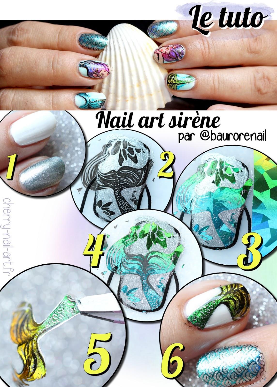 tuto-nail-art-sirène-stamping-foil-moyra