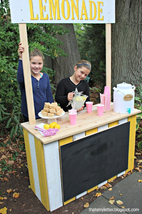 diy kids lemonade stand