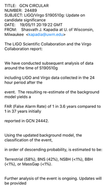 So, what is going to be he outcome of this mystery LIGO/VIRGO S190510g signal?
