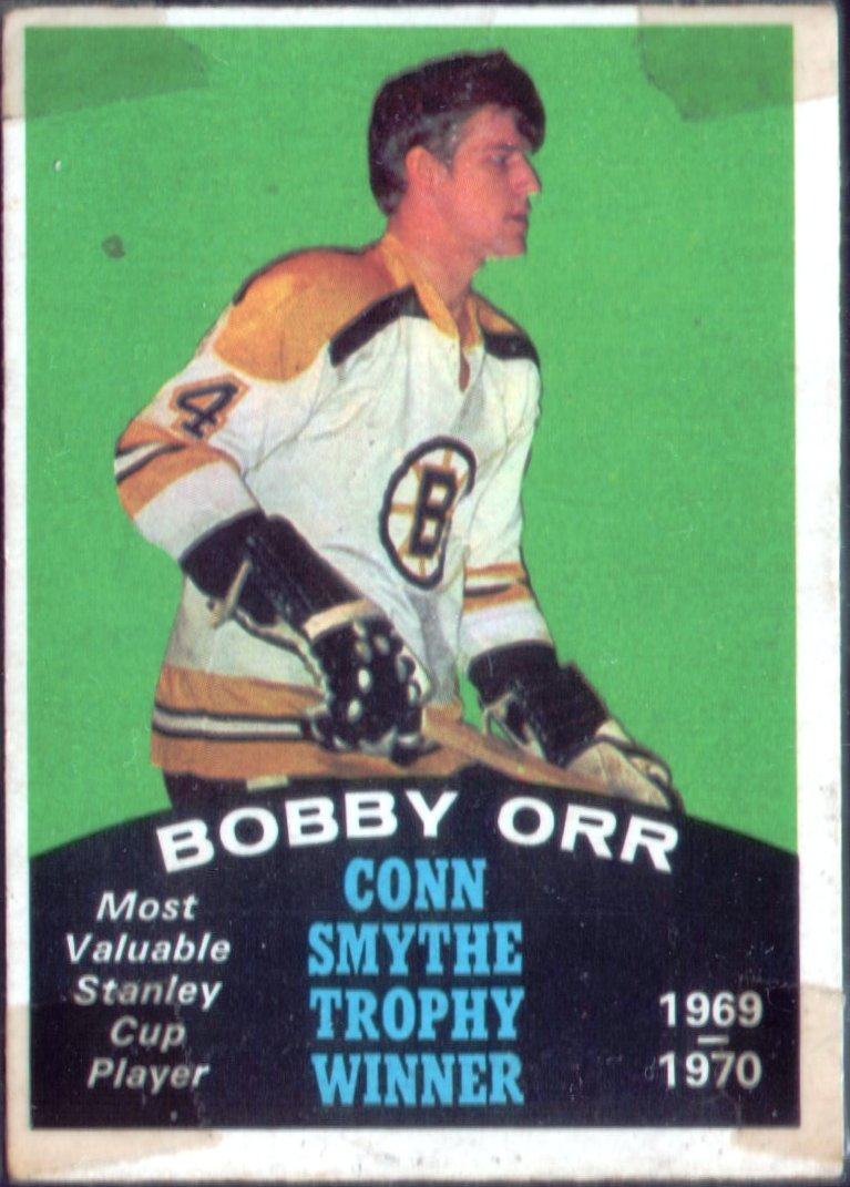 Wax Stain Rookie 70 71 Opc Bobby Orr Conn Smythe Maybe