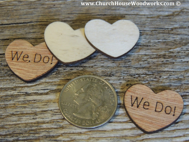 We Do Rustic Wood Heart Confetti for Rustic Weddings, Barn Weddings, Country Weddings, Farm Weddings- Table Decorations For Rustic Weddings