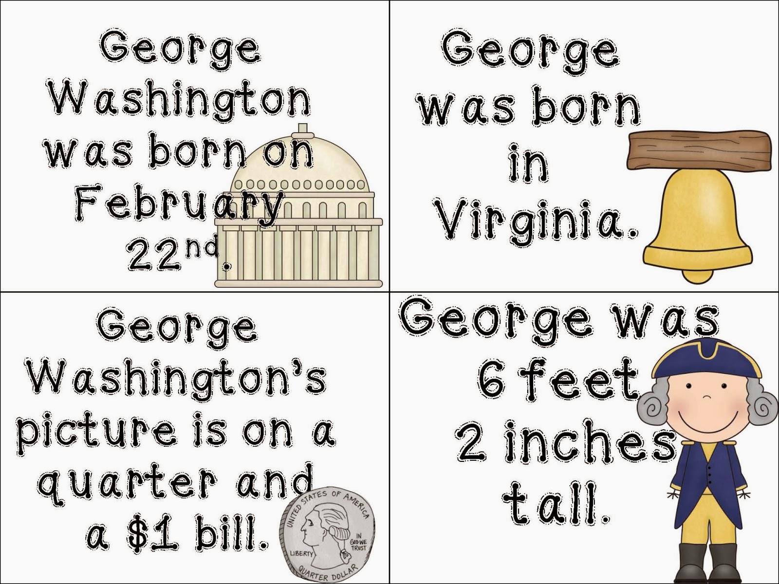 small resolution of George Washington Worksheet For Kindergarten   Printable Worksheets and  Activities for Teachers