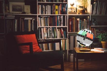 Mono Lamp oder Sendeschluss im Wohnzimmer | Das TV Testbild als Lampe