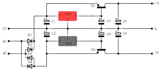 15-volt stabilizer schematics