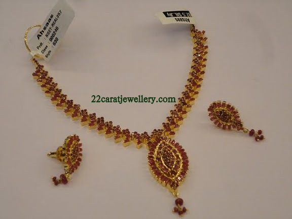 Ruby emerald imitation jewellery 1 gram gold jewellery designs checkout out beautiful one gram goldimitation jewellery ruby and emerald necklace sets paired with matching earrings looks like gold jewellery and aloadofball Image collections