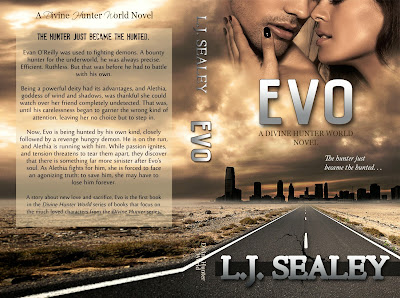 COVER REVEAL: Evo - A Divine Hunter World Novel by L.J. Sealey | My Little World