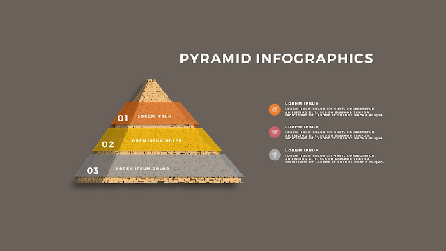 Realistic Pyramid Infographics Free PowerPoint Template Slide 5