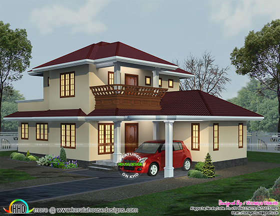 19658 sq-ft typical Kerala home