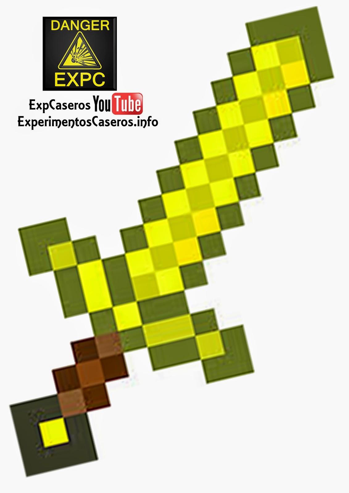 Espada De Minecraft Casera Minecraft En La Vida Real