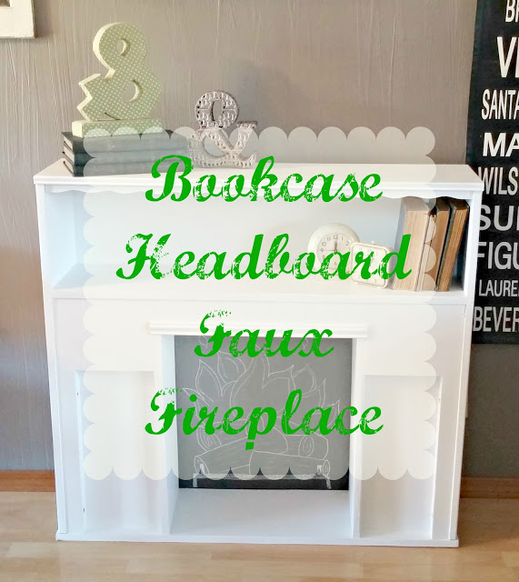how to make a faux fireplace from a twin size bookcase headboard