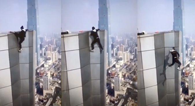 [VIDEO] Lelaki berani mati China temui ajal .Inikah Video Terakhirnya?