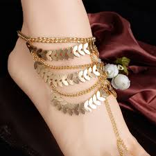 gold anklet beautiful in Spain