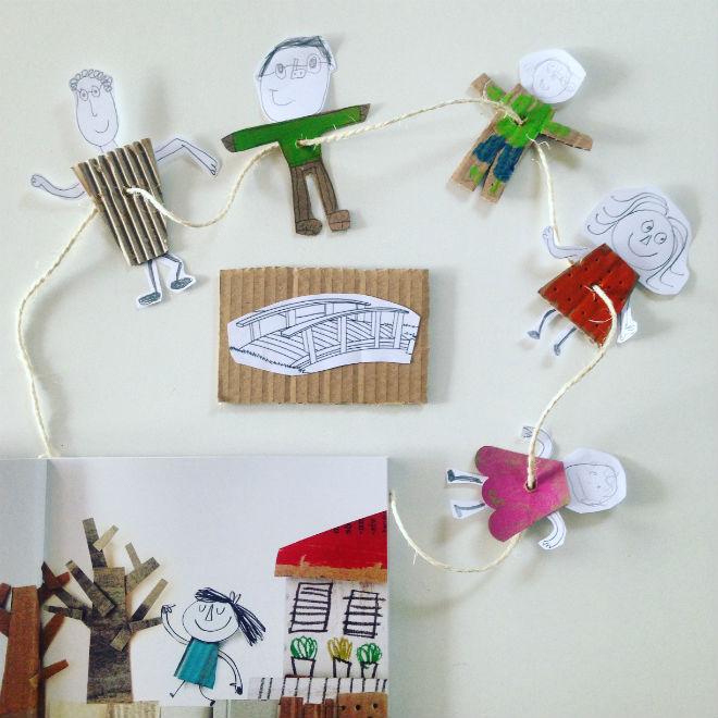 manualidad infantil libro Vacío Anna Llenas collage