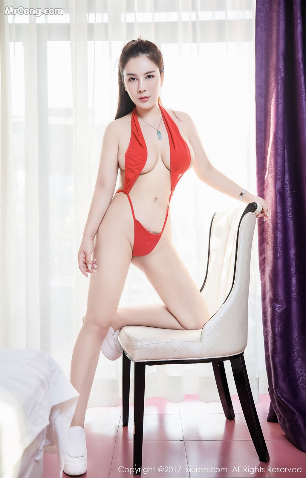 Image XIUREN-No.839-Xue-Qian-Xun-MrCong.com-035 in post XIUREN No.839: Người mẫu Xue Qian Xun (雪千寻) (44 ảnh)