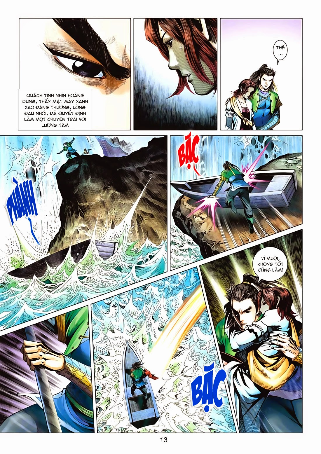 Anh Hùng Xạ Điêu anh hùng xạ đêu chap 72: ngư tiều canh độc trang 13