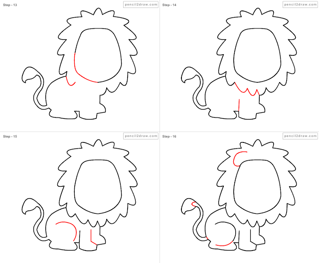 Drawing A Cartoon Lion | HD Walls | Find Wallpapers