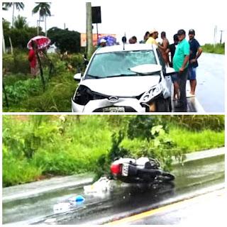 SAPEAÇU/MURITIBA: Sábado é marcado por acidentes de trânsito