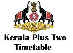 DHSE Kerala Exam Timetable 2018