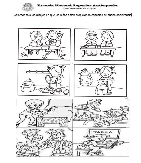 Convivencia Escolar Para Colorear Dibujos De