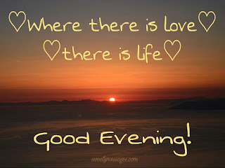 Good evening love messages