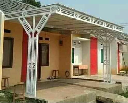 Kanopi rumah Minimalis dengan Rangka unik