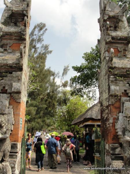 entrance to Taman Ayun Temple  in Mengwi village, Bali