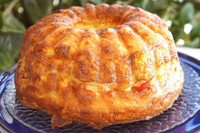 Cheese Pie with Cabanossi