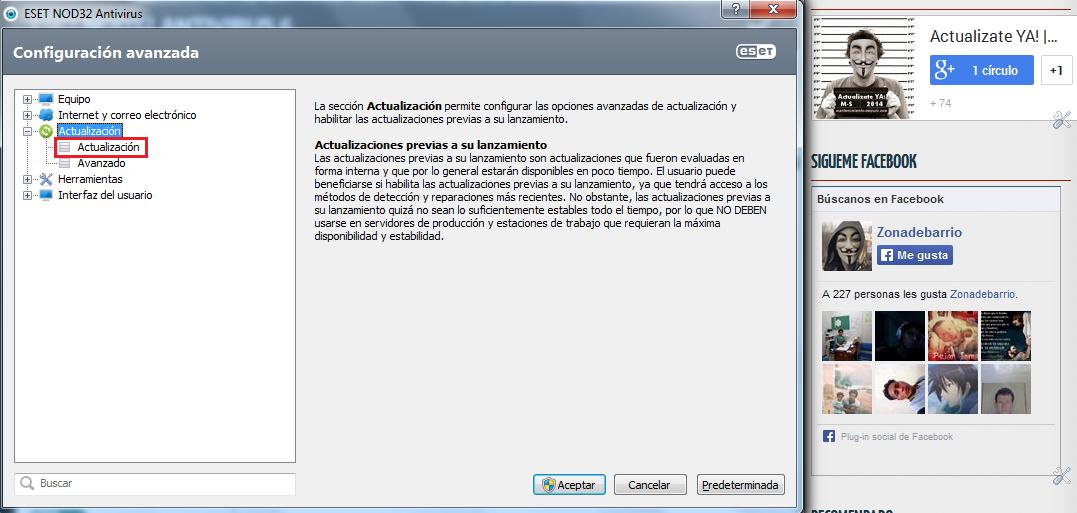 Como Solucionar error de Actualizacion en NOD32 y Smart Security