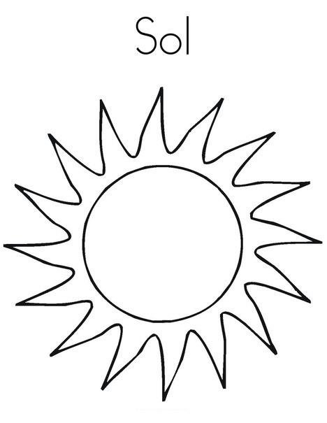 Blog De Geografia Sol Desenho Para Imprimir E Colorir