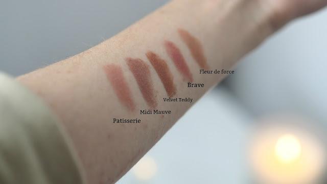mac lipstick swatches nude
