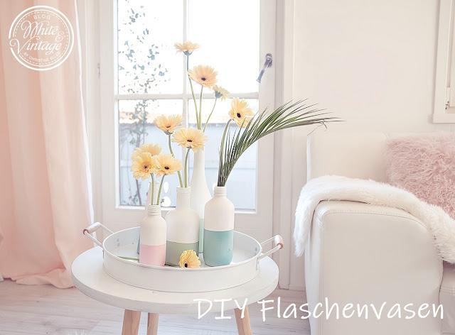 Vasen selber basteln: Deko und DIY Blog White and Vintage