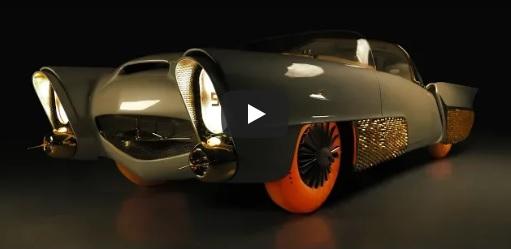 Golden Sahara, mobil klasik pakai pelek emas dan ban tembus pandang carscoops