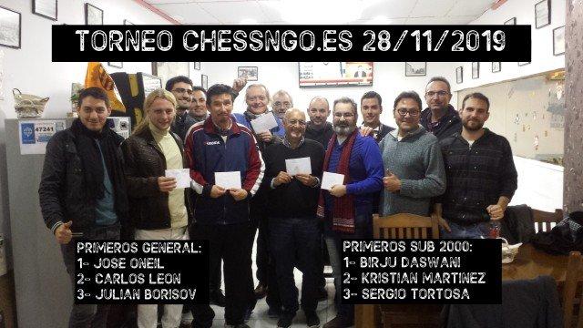 José Oneil gana el ChessNGo del 28 de noviembre
