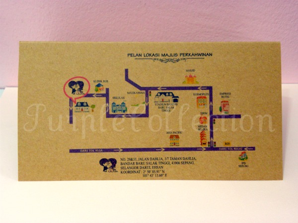 Air Mail Envelope Wedding Invitation Card, wedding invitation cards, malay wedding cards, air mail envelope cards, wedding