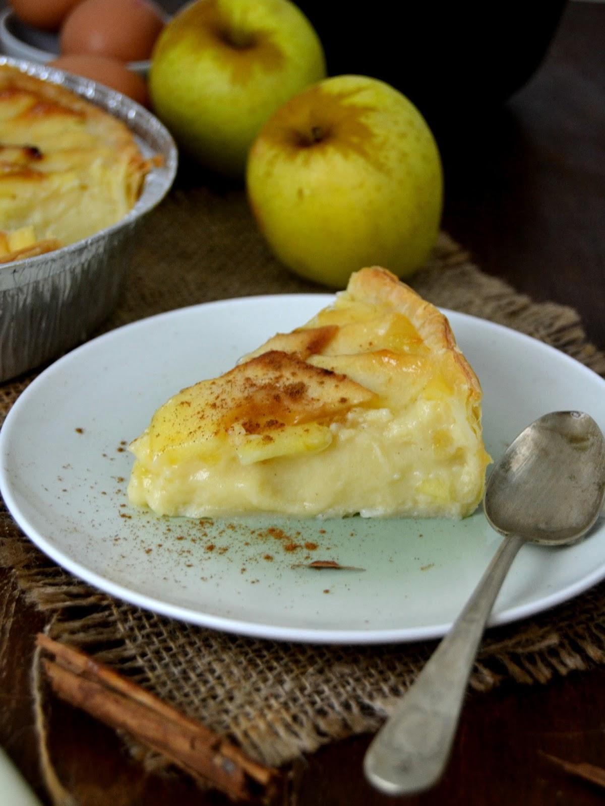 Tarta de manzana con crema  Cuuking Recetas de cocina