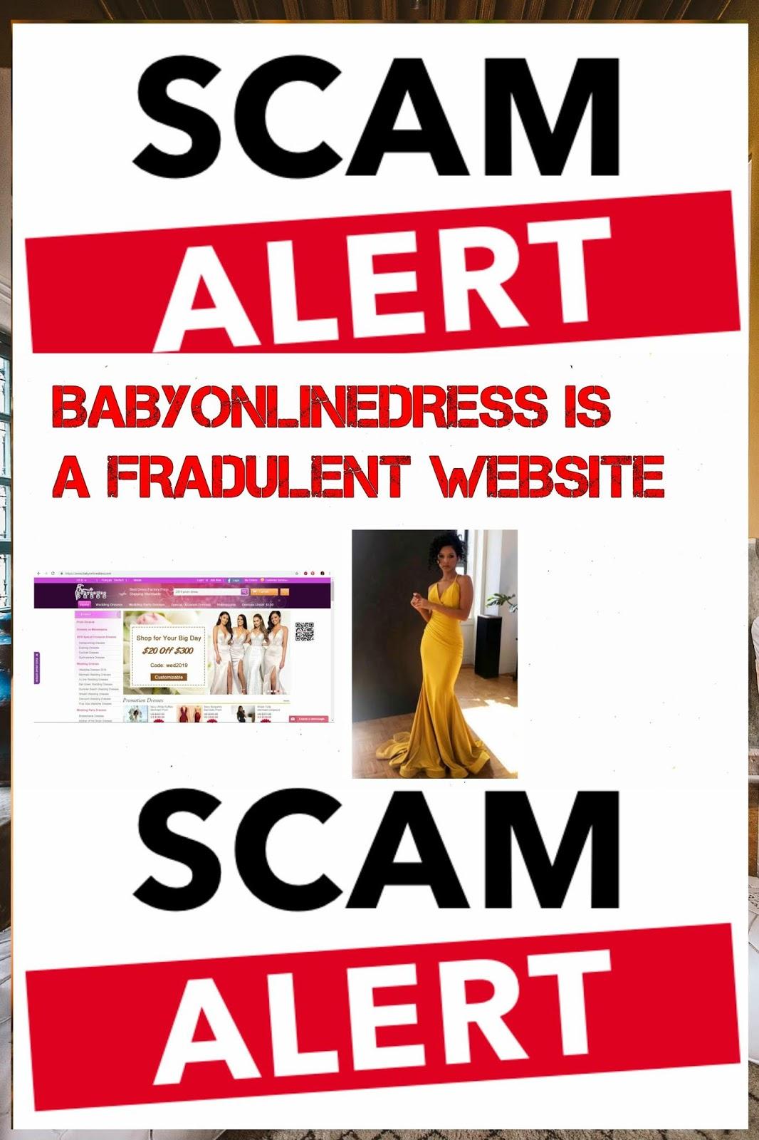 Babyonlinedress Com Is A Fraudulent Website Bloggers Stop Writing False Reviews For Them Mélòdý Jacòb