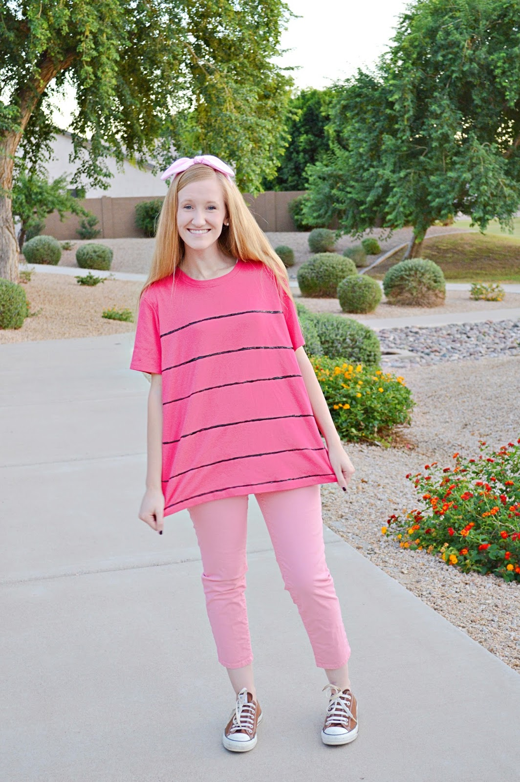 Last weekend we headed to Deseret Industries and were able to put together the perfect outfits for both of our characters -Christopher Robin and Piglet. & Halloween costumes with Deseret Industries - Alyssa Dawson Blog