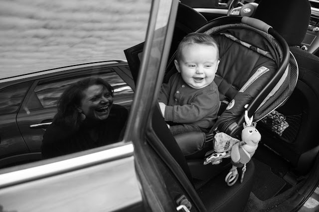Black and white documentary photograph of mother and son by photographer Zachary P. Stephens