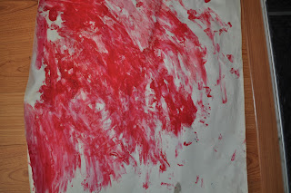 Valentine's day card craft-finger paint hearts