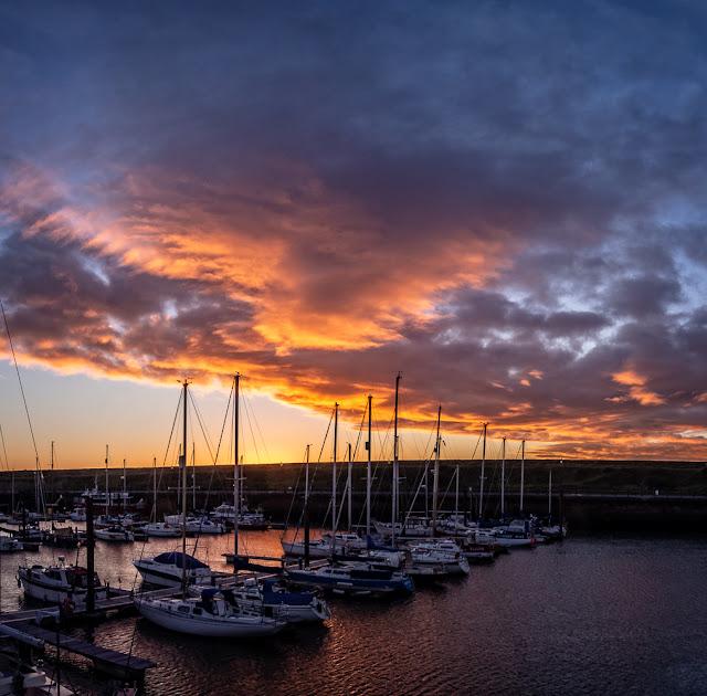 Photo of sunset over Maryport Marina